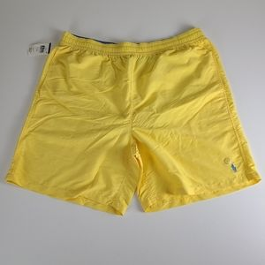 NWT Ralph Lauren Polo Yellow Swim Trunks Shorts LT